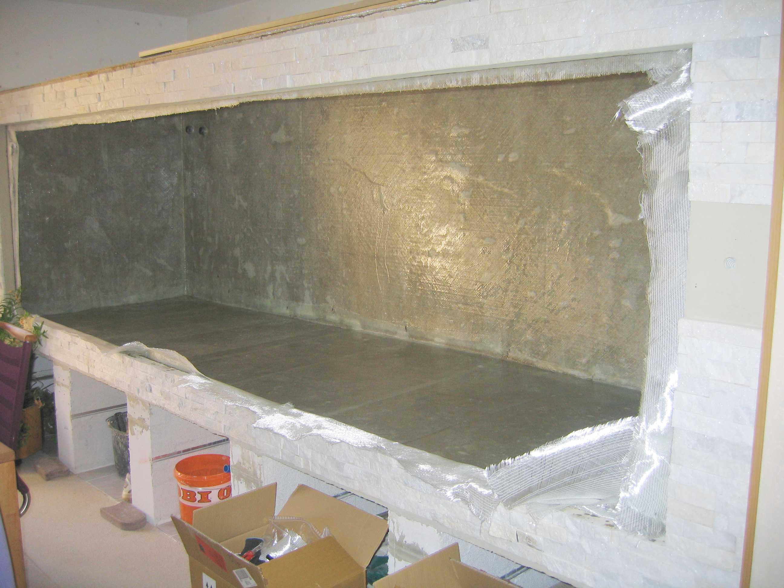 der bau meines 5 m fassenden s damerika aquariums aus beton. Black Bedroom Furniture Sets. Home Design Ideas