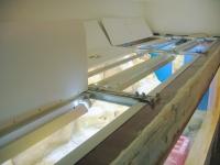 Blick von oben auf die Beleuchtungsabdeckung