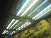 Blick von unten auf die Haupt- und Effektbeleuchtung