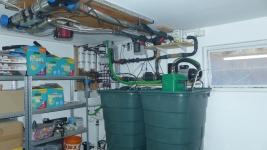 Technikecke mit Osmosesumpf im Keller