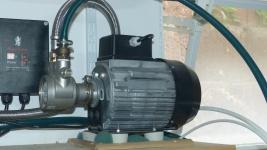 Drehschieberpumpe mit Stahlflexleitung (mit altem Motor)